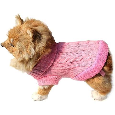 Malloom® Mascotas Perro Gato ropa del invierno suéter caliente Prendas de punto para los perros de perrito Abrigos Ropa (6#,