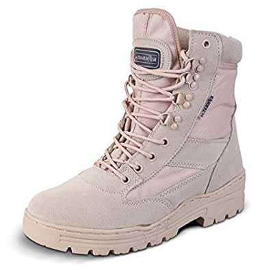 Mens Desert Army Combat Military Patrol Tan Work Lightweight Suede Leather Boot (UK 7)