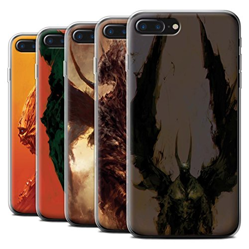 Offiziell Chris Cold Hülle / Gel TPU Case für Apple iPhone 7 Plus / Teufel/Tier Muster / Wilden Kreaturen Kollektion Pack 6pcs
