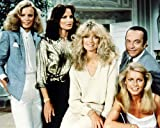 Charlies Angels Photo 10 x 8 pour les rares Shelley Hack Jaclyn Smith Farrah Fawcett Cheryl Ladd David Doyle Group pose