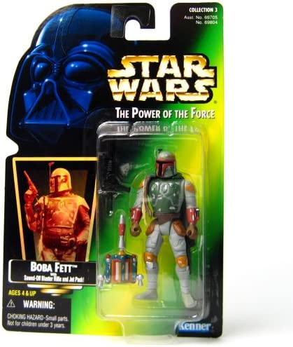Star Wars Power of the Force Boba Boba Boba Fett Green Card Action Figure   Sawed-off Blaster Rifle and Jet Pack Freeze Frame | économie