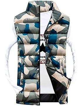 Zhuhaitf ropa de calle Men's Vest Sleeveless Jackets Waistcoat Camouflage Zipper Outerwear Coat