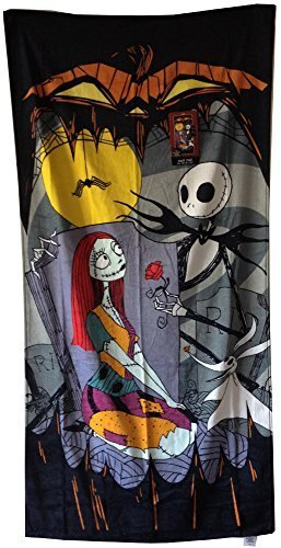Christmas Beach Towel Jack Skellington Sally and Zero by Disney (Jack, Sally Und Zero)