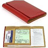 Etui papier voiture cuir Rouge Fabrication Luxe Française