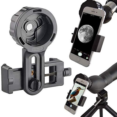 Adaptador de Móvil Pro para Prismáticos, Monoculares, Telescopios Terrestres, Telescopios Astronómicos, Microscopios. Compatibles con Cualquier Smartphone. Ideal para Capturar Tus Aventuras.