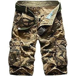 Pantalones cortos de camuflaje de carga para hombres Pantalones al aire libre de verano Pantalones al aire libre multi bolsillos Pantalones cortos - Highdas 2 Color 10 Size