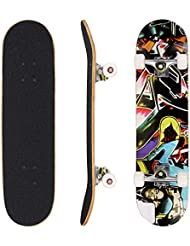3605ad94 WeSkate Complete Skateboard 79 x 20 cm Wooden Board 31 Inch Canadian Maple  Wood 85 A