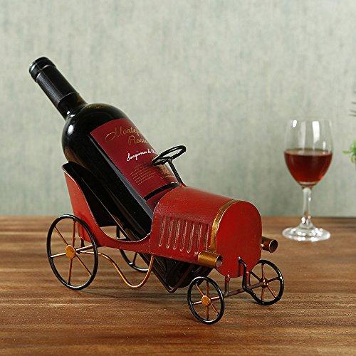 Baffect Metall Weinflaschenhalter, reg; Retro Klassische Auto Weinregal Metallflasche Wein Halter...