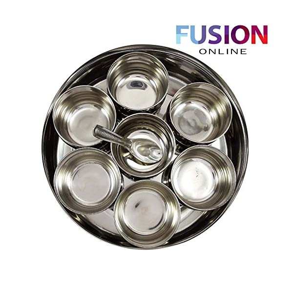 EVELYN LIVING Large Stainless Steel Indian 7 Spice Tin Box Tandoori Masala Dabba Spices Box Storage 3