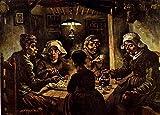 Toperfect 50€-2000€ Handgefertigte Ölgemälde - Die Kartoffel-Esser Vincent Van Gogh Gemälde auf Leinwand Kunst Werk Ölmalerei VVG5 - Malerei Maße10