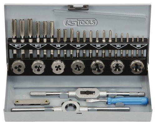 Preisvergleich Produktbild KS Tools 331.0632 HSS Gewindeschneidwerkzeug-Satz, 32-tlg.
