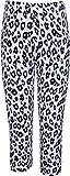 Bio Kid Girls Leggings (Ysh-1051-158 -Black & White -12-13 Years)