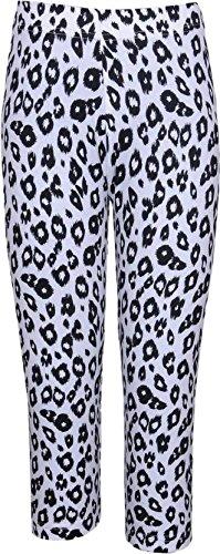 Bio Kid Girls Leggings (Ysh-1051-140 -Black & White -9-10 Years)