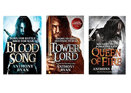Anthony Ryan Raven's Shadow Collection, Set includes Books 1-3, Blood Song, Tower Lord & Queen of Fire