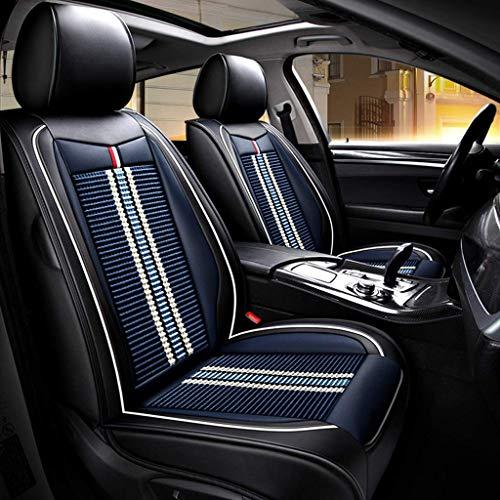 ZUOTAO Autositzbezug, Vorne und Hinten 5-Sitzer-Komplettsatz Universal Ice Silk Leather Seasons Pad Kompatibel mit Airbag-Sitzprotektoren. (Farbe : Blau)