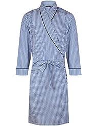 Robe de chambre légère 100% coton à rayures - Homme