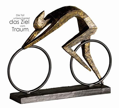 Casablanca - Skulptur Racer - aus Poly bronzefarben auf Basis H 28,5 cm