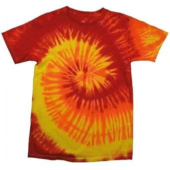 Colortone Womens/Ladies Rainbow Tie-Dye Short Sleeve Heavyweight T-Shirt (S) (Blaze)