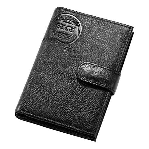 FENICAL Männer Brieftasche Business Freizeit Rfid schlanke Brieftaschen ID Fenster Münzfach kurze Brieftasche multifunktionale Passbuch Brieftasche (schwarz) -