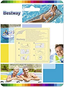 Bestway 10 Super Patchs de réparation, rustines matelas, bouées, piscines, spas gonflables - surface totale 42,3 cm2