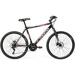 "Moma - Bicicleta Montaña Mountainbike 26"" BTT SHIMANO, doble disco y suspensión"