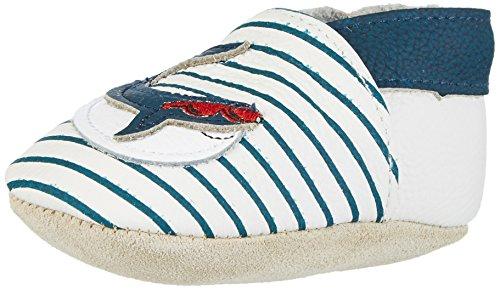 Rose & Chocolat Baby Jungen Cool Whale Lauflernschuhe Blau (Navy Stripes)
