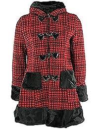 Hell Bunny Kurzmantel STAR COAT red/black
