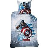 Bettwäsche (Videoleuchte)–Bettbezug (140x 200) + Kissenbezug (63x 63)–bedruckt Avengers Avengers Captain America
