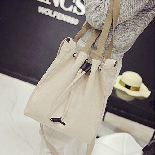 Zicac sac bandoulière sac épaule en toile Femme beige