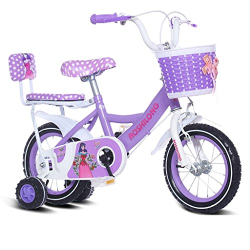 Guo shop- Kind Fold Fahrrad 3-6-8 Jahre Old Baby Kinderwagen 12 Zoll 14 Zoll 16 Zoll 18 Zoll Bike Kinderfahrräder ( Farbe : Purple 2 , größe : 18Inch )