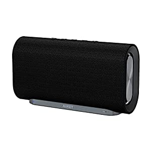 AUKEY Eclipse Bluetooth Speaker 20 W with 12 Hours Playtime, Enhanced Bass with Dual Passive Radiators / Subwoofers and Woven Fabric Surface for Echo Dot, Android Phones and More (Upgraded)