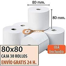 """30 Rollos Papel Térmico 80x80 """"Envío Urgente Gratis"""""""