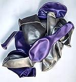 Sachsen Versand 50 lila silber metallic-Luft-Ballons glänzend-metall-Feier-Deco-Geburtstag-Fete-Helium-geeignet EU Ware