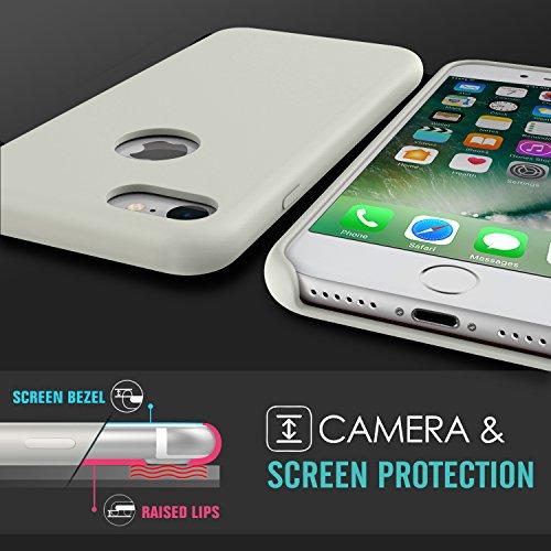 MoKo Coque iPhone 7 en Silicone flexible de la haute qualité ultra mince, anti-choc et anti-rayures, Protection de la caméra, Pierre. Pierre