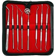 Canduré - Set de limpieza dental (8 piezas, incluye espejo bucal)