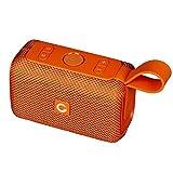 DOSS Mini Enceinte Bluetooth Portable,Waterproof Haut-Parleur sans Fil,Basses Puissantes, Étanche pour Piscine & Plage IPX6, Orange