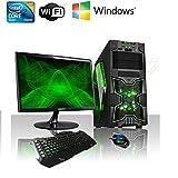 Computer Best Deals - PC DESKTOP GAMING INTEL QUAD CORE WIFI/HD 1TB SATA III/RAM 8GB 1600MHZ/HDMI-DVI-VGA/USB 2.0 3.0 SD CARD/MONITOR 22 LED HD SAMSUNG VGA ATTACCO VESA/TASTIERA E MOUSE GAMING PC FISSO COMPLETO PRONTO ALL'USO GIOCHI,UFFICIO,GAMING ITEK NINJA