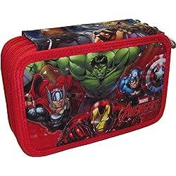 Escuela Caso 3 Zip AVENGERS de Marvel originales - 3D - Completa con 45 piezas