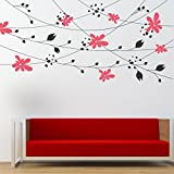 StickMe 'Floral Walls - Full Wall Design Wall Sticker'- SM 070 ( PVC Vinyl - 200cm X 100 Cm )