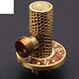 NAERFB Kupfer Kupfer Eckventil/Antik Continental Erkältung/Dreieck Ventil/Wasser Heizung 4 Minute - B