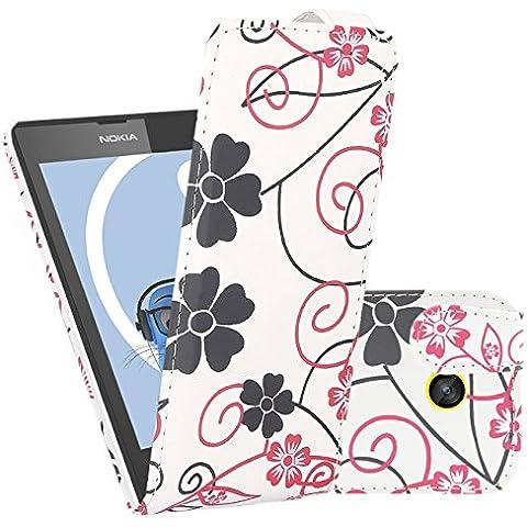 iTALKonline Nokia Lumia 520 / 525 BIANCO ROSA FIORE Easy