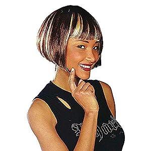 WIDMANN m0914?Mujer peluca Michelle, talla única adultos en caja, color marrón con mechones