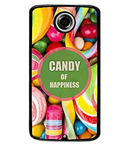 Fuson Premium Candy Of Happiness Metal Printed with Hard Plastic Back Case Cover for Motorola Google Nexus 6