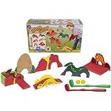 Simba 107408274 - Dino - Minigolf Parcour, 10-teilig
