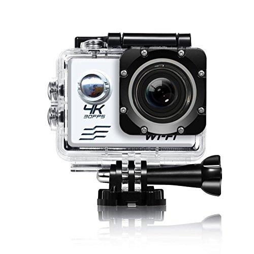 ETbotu 4 K Wifi Sportkamera Ultra HD Wasserdicht DV Camcorder 16 MP 170 Grad Weitwinkel 5,1 cm LCD-Bildschirm mit 1 Batterie Silber
