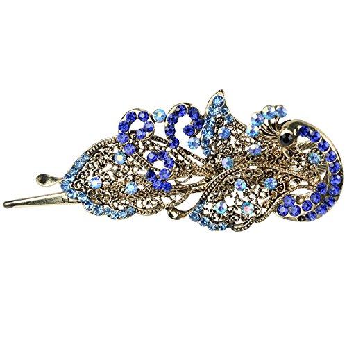 TOOGOO(R) Vintage Belle Cristal Bijoux paon Barrettes epingles a cheveux - Pour pince a cheveux Beaute Outils