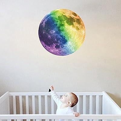 Extsud® Wandsticker Leuchtaufkleber Leuchtsticker Nymph und Stern / Mond / Katze fluoreszierend Wandaufkleber Hausdekoration für Schlafzimmer Wohnzimmer Kinderzimmer