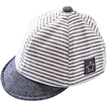 EOZY Kinder Baby Mütze Streifen Baseball Cap Kappe Hat Hut Casual Sommer
