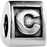 TAOTAOHAS antico numero alfabeto sterling 925 argento charms beads perline