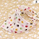 Sunsbell Bandana per Cani di Raffreddamento Pet Sciarpa del Fazzoletto da Collo Cotton Bib Collare - Pet Footprint Pattern